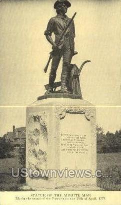 Statue of the Minute Man - Misc, Massachusetts MA Postcard