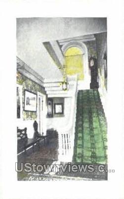 Stairway, Cabot, Endicott, Low House - Salem, Massachusetts MA Postcard