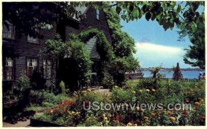 Flower Gardens, Salem harbor - Massachusetts MA Postcard