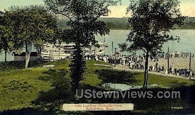 Boat Landing, Riverside Park - Springfield, Massachusetts MA Postcard