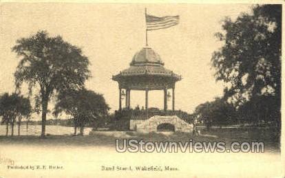 Band Stand - Wakefield, Massachusetts MA Postcard