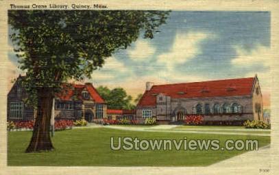 Thomas Crane Library - Quincy, Massachusetts MA Postcard