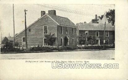 John Adams & Quincy Birthplace - Massachusetts MA Postcard