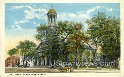 Unitarian Church - Quincy, Massachusetts MA Postcard