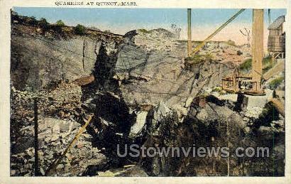Quarries - Quincy, Massachusetts MA Postcard