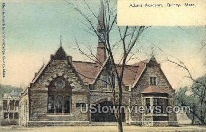 Adams Academy - Quincy, Massachusetts MA Postcard