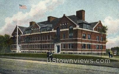 High School Building - Quincy, Massachusetts MA Postcard