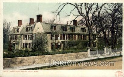Presidential Mansion - Quincy, Massachusetts MA Postcard