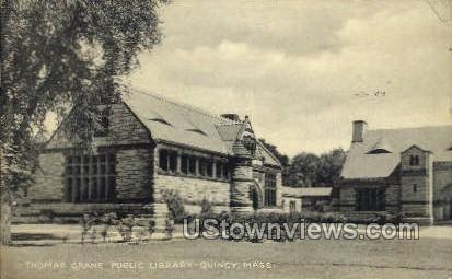 Thomas Crane Public Library - Quincy, Massachusetts MA Postcard