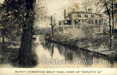 Quincy Homestead - Massachusetts MA Postcard