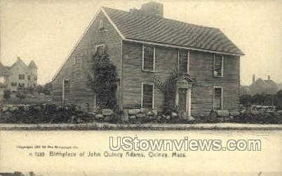 Birthplace of John Quincy Adams - Massachusetts MA Postcard