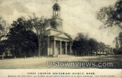 First Church - Quincy, Massachusetts MA Postcard