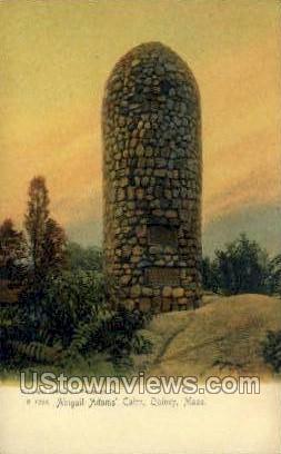 Abigail Adams Cairn - Quincy, Massachusetts MA Postcard