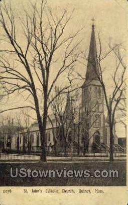 St. John's Church - Quincy, Massachusetts MA Postcard