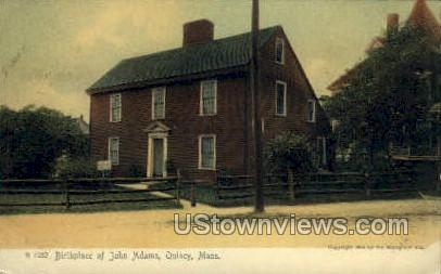 Birthplace of John Adams - Quincy, Massachusetts MA Postcard