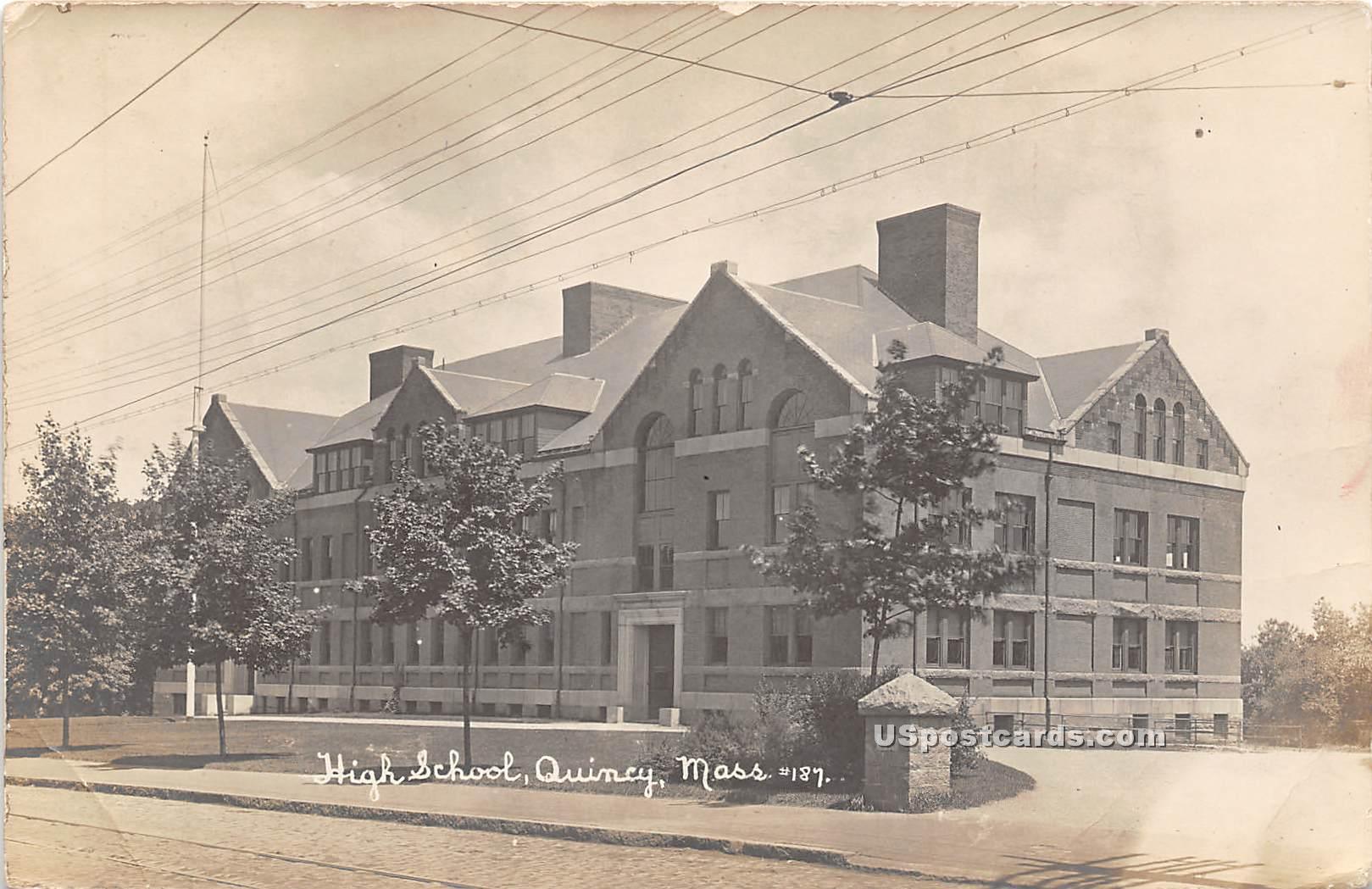 High School - Quincy, Massachusetts MA Postcard