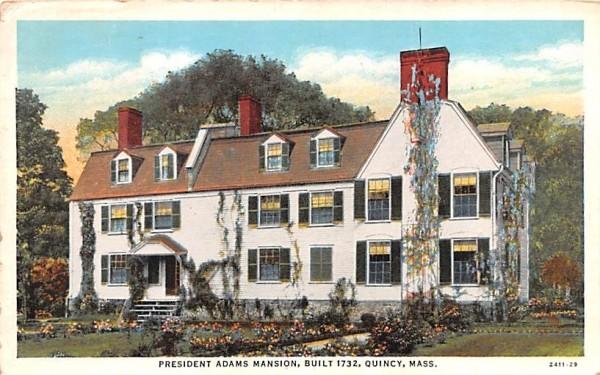 President Adams Mansion Quincy, Massachusetts Postcard