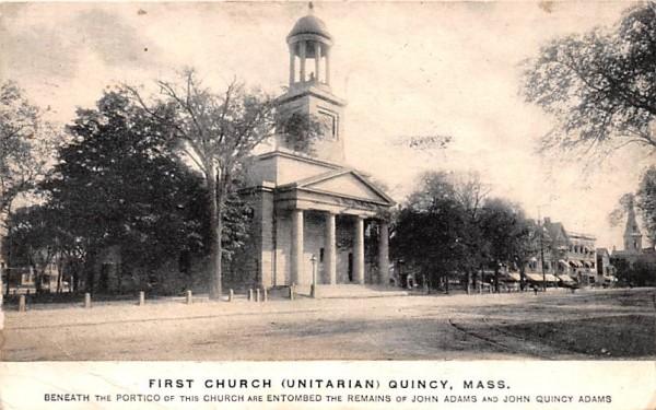 First Church (Unitarian)  Quincy, Massachusetts Postcard