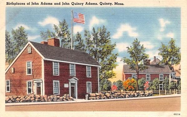 Birthplace of John Adams & John Quincy Adams Massachusetts Postcard