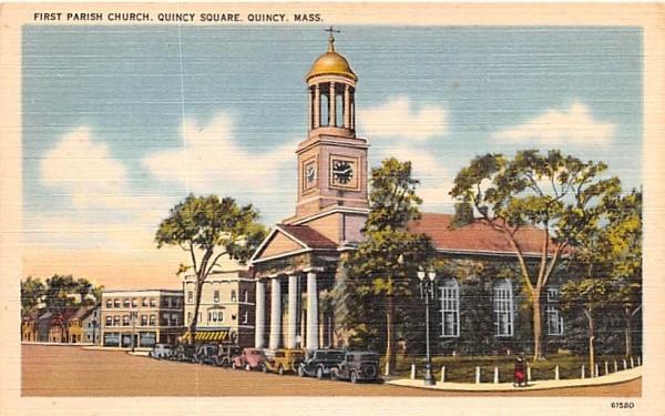 First Parish Church Quincy, Massachusetts Postcard