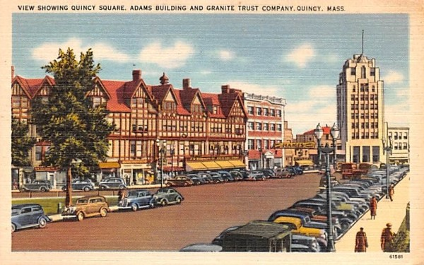 View showing Quincy Square Massachusetts Postcard