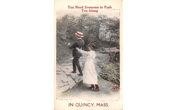 You Need Someone to Push You Along Quincy, Massachusetts Postcard