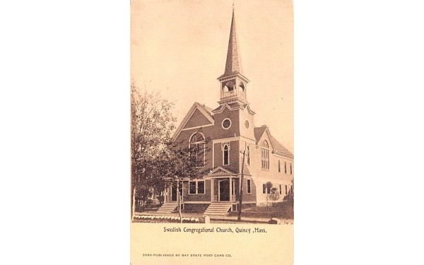 Swedish Congregational Church Quincy, Massachusetts Postcard