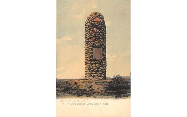 Miles Standish Cairn Quincy, Massachusetts Postcard