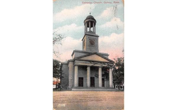 Unitarian Church Quincy, Massachusetts Postcard