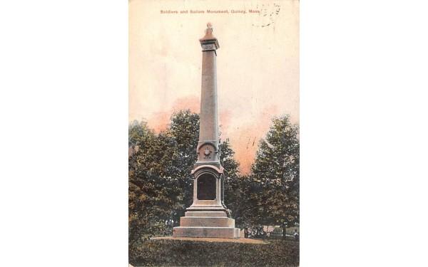 Soldiers & Sailors Monument Quincy, Massachusetts Postcard