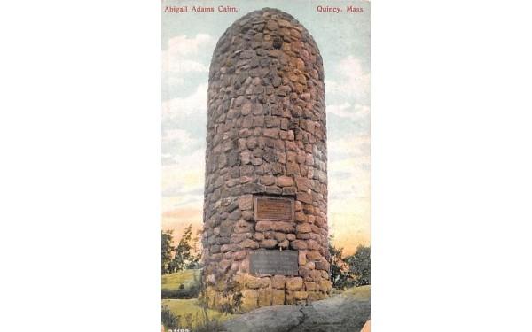 Abigal Adams Cairn Quincy, Massachusetts Postcard