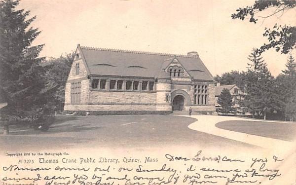 Thomas Crane Public Library Quincy, Massachusetts Postcard