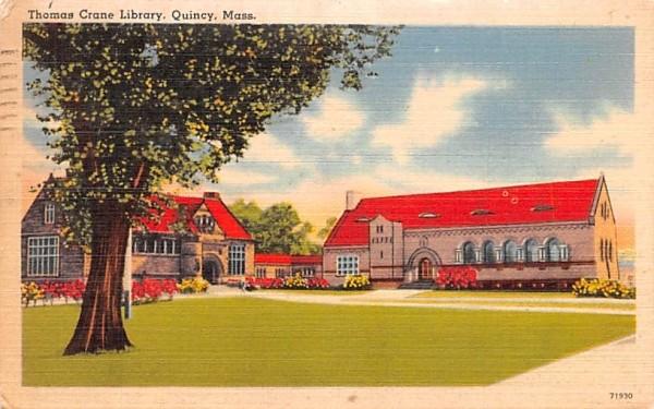 Thomas Crane Library Quincy, Massachusetts Postcard