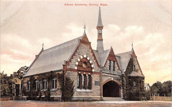 Adams Academy  Quincy, Massachusetts Postcard
