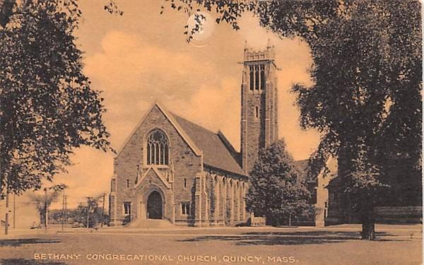 Bethany Congregational Church Quincy, Massachusetts Postcard