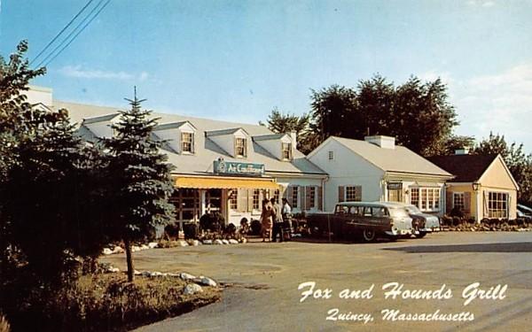 Fox & Hounds Grill Quincy, Massachusetts Postcard