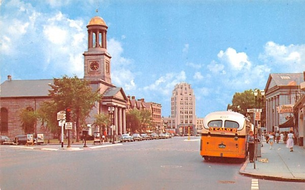 Quincy Center  Massachusetts Postcard