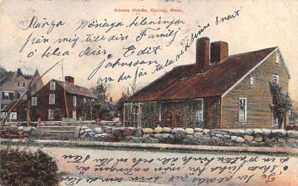 Adams House Quincy, Massachusetts Postcard