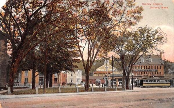 Quincy Square Massachusetts Postcard
