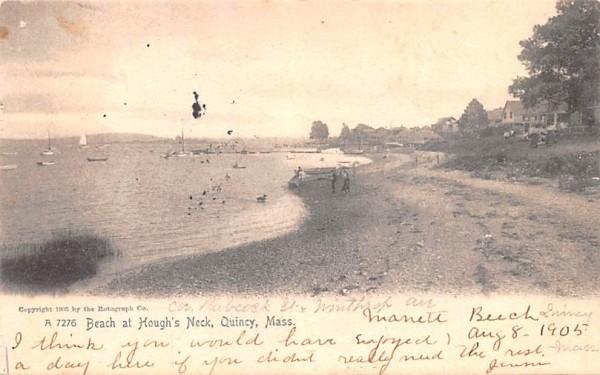 Beach at Hough's Neck Quincy, Massachusetts Postcard