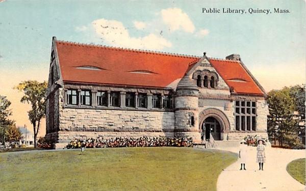 Public Library Quincy, Massachusetts Postcard