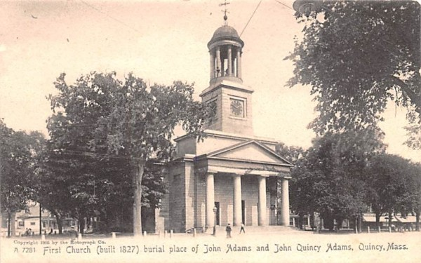 First Church Quincy, Massachusetts Postcard