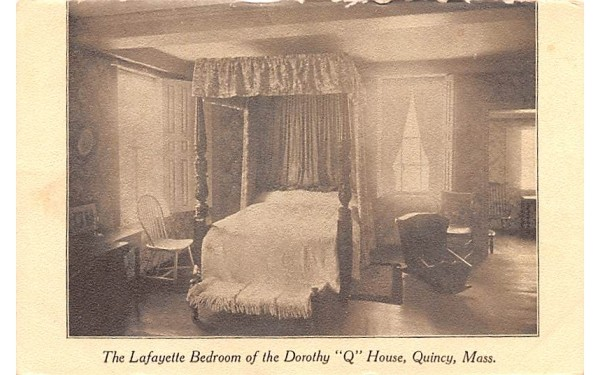 The Lafayette Bedroom  Quincy, Massachusetts Postcard
