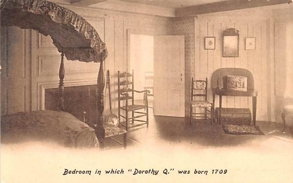 Bedroom  Quincy, Massachusetts Postcard
