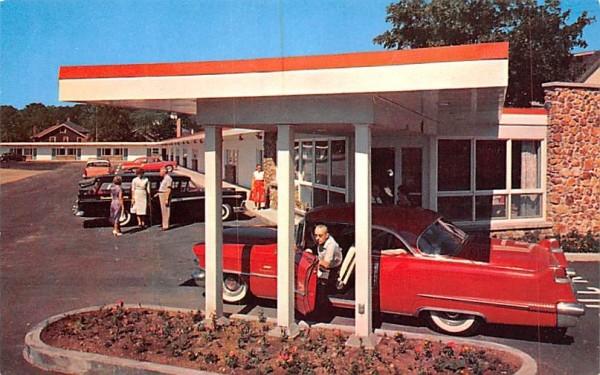 Presidents' City Motel Quincy, Massachusetts Postcard