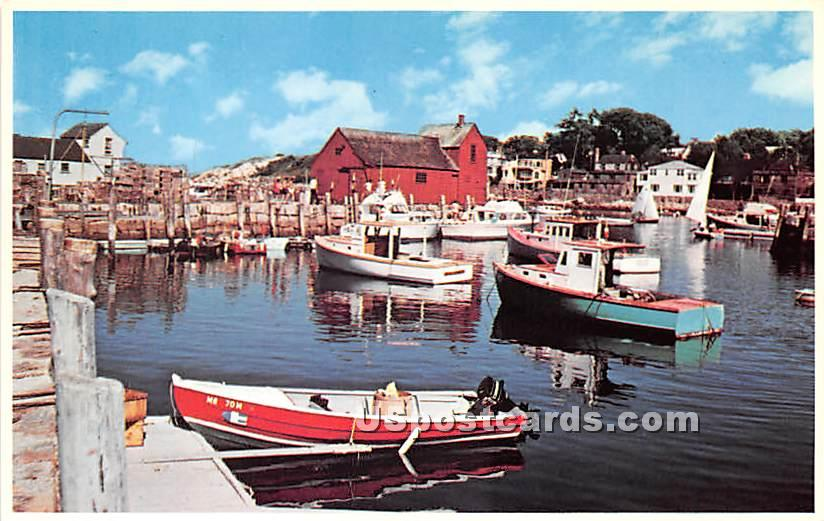 Motif Number One seen from Bearskin Neck - Rockport, Massachusetts MA Postcard