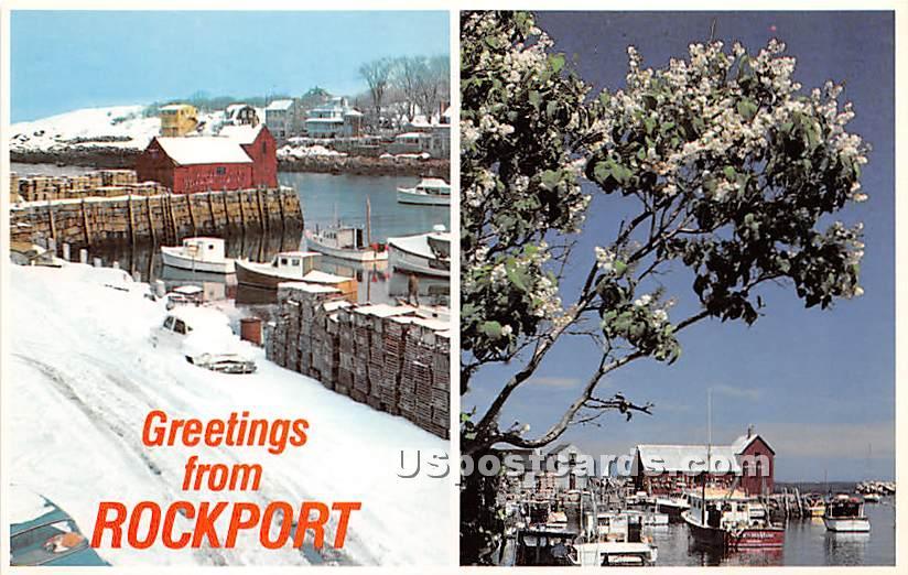 Greetings from - Rockport, Massachusetts MA Postcard