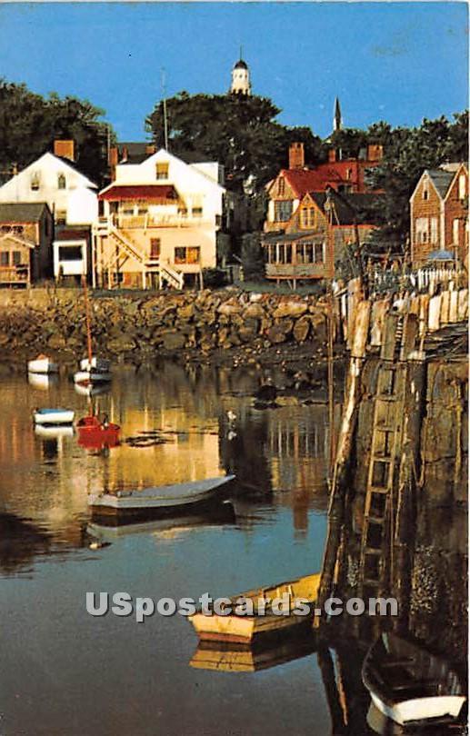 Morning at Ebb Tide - Rockport, Massachusetts MA Postcard