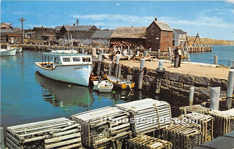 Motif Number One & Bearskin Neck - Rockport, Massachusetts MA Postcard