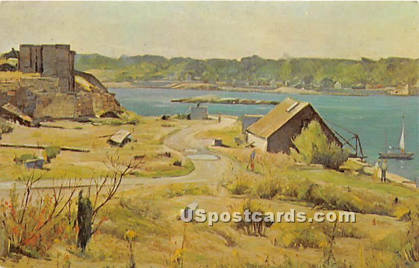 The Blue Water of Sandy Bay - Rockport, Massachusetts MA Postcard